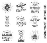 set of vintage summer... | Shutterstock .eps vector #384901681