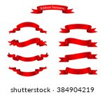 set of ribbons.ribbon banner... | Shutterstock .eps vector #384904219