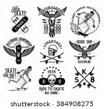 Set Of Skateboarding Labels An...