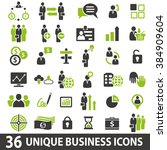 set of 36 business icons.... | Shutterstock . vector #384909604