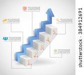 3d success steps concept arrow... | Shutterstock . vector #384912691
