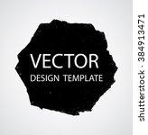 grunge logo ribbon. modern... | Shutterstock .eps vector #384913471