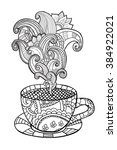 vector coffee or tea cup with...   Shutterstock .eps vector #384922021
