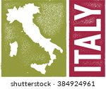 vintage italy country map | Shutterstock .eps vector #384924961