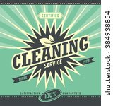 vintage ad design for cleaning...   Shutterstock .eps vector #384938854