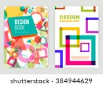 vector brochure design template.... | Shutterstock .eps vector #384944629