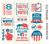 vote design elements 2016... | Shutterstock .eps vector #384966751