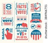 vote design elements 2016... | Shutterstock .eps vector #384966751
