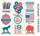 vote design elements 2016... | Shutterstock .eps vector #384966754