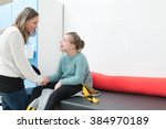 disabled child together with a... | Shutterstock . vector #384970189