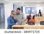 startup business team on... | Shutterstock . vector #384971725