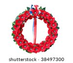 Wreath Of Poppies Isolated With ...