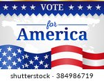 vote for america background | Shutterstock .eps vector #384986719