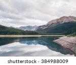 lower kananaskislake | Shutterstock . vector #384988009