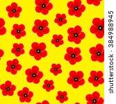 Art Poppy Flower Back Pattern...