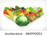 cabbage  harvest juicy and ripe ... | Shutterstock .eps vector #384990001
