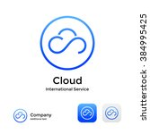 cloud modern logo icon and... | Shutterstock .eps vector #384995425