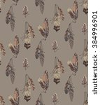seamless feathers pattern. boho ... | Shutterstock .eps vector #384996901
