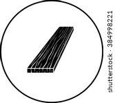 wood board symbol | Shutterstock .eps vector #384998221