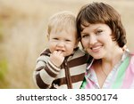 mother and son | Shutterstock . vector #38500174