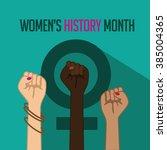 women's history month design....   Shutterstock .eps vector #385004365