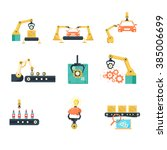 industrial automated assembly... | Shutterstock .eps vector #385006699