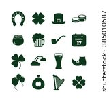 saint patrick's day icon set  ... | Shutterstock .eps vector #385010587