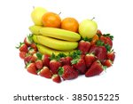 collection of fresh fruits rich ... | Shutterstock . vector #385015225