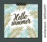 summer background with frame... | Shutterstock .eps vector #385016497
