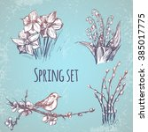 spring design elements. vector | Shutterstock .eps vector #385017775
