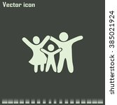 happy family icon in simple... | Shutterstock .eps vector #385021924