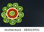 fruit creative background | Shutterstock . vector #385023931