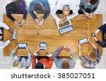 business team marketing global... | Shutterstock . vector #385027051