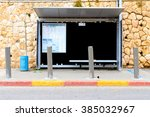 fortified bus station in... | Shutterstock . vector #385032967