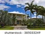 large new beach house in... | Shutterstock . vector #385033249