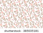 cute pattern in small flower.... | Shutterstock .eps vector #385035181