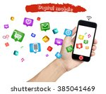 smart phone with internet of... | Shutterstock . vector #385041469