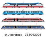 high speed trains   railway... | Shutterstock .eps vector #385043005