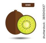 kiwi  fruit vector illustration   Shutterstock .eps vector #385043437