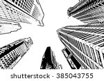 skyscraper   vector outline | Shutterstock .eps vector #385043755