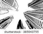 skyscraper   vector outline | Shutterstock .eps vector #385043755