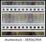low polygon triangle pattern...   Shutterstock . vector #385062904