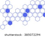 Illustration Of Hexagon Patter...