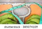 close up of bathroom weight... | Shutterstock . vector #385074109