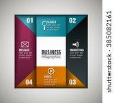 business infographic design  | Shutterstock .eps vector #385082161