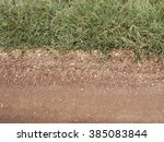 Red Dirt Road With Grass