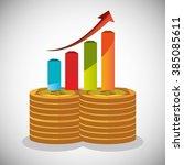 profitable growth design  | Shutterstock .eps vector #385085611