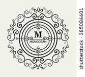 monogram background design    Shutterstock .eps vector #385086601