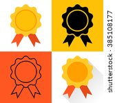 medal icon. set of medals ... | Shutterstock .eps vector #385108177