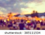 vintage tone blur image of... | Shutterstock . vector #385111534
